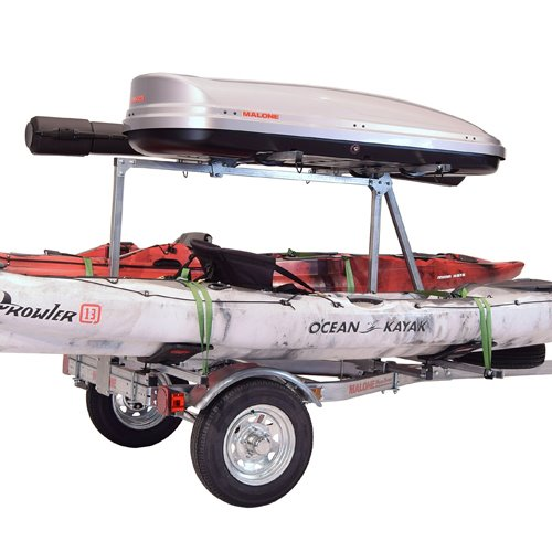 Malone mpg464-lbtm MicroSport 2 Tier LowBed Trailer with 2 Mega Wings