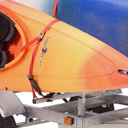 Malone mpg596xj2 LowMax Trailer and 2 J-Style Kayak Carriers