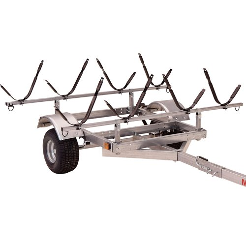 Malone mpg596xj4 LowMax Trailer and 4 J-Style Kayak Carriers