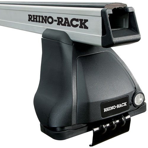Rhino-Rack HD 2500 Series Silver Car Roof Rack System for Naked Roofs