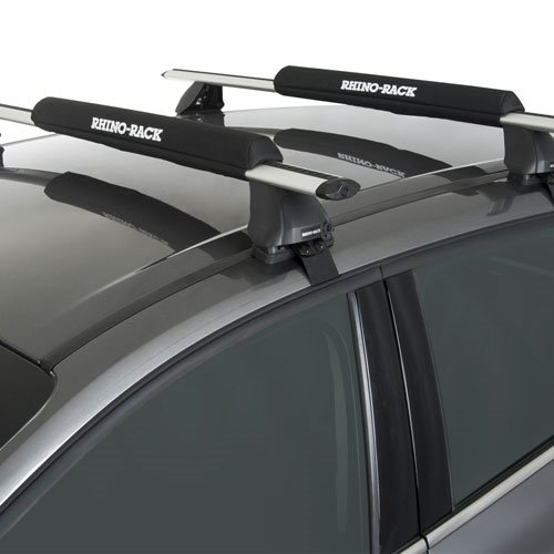 Rhino-Rack 27.5 Universal Rack Pads with Padded Tie Down Straps for Surfboards, SUPs, Windsurfers rwp04