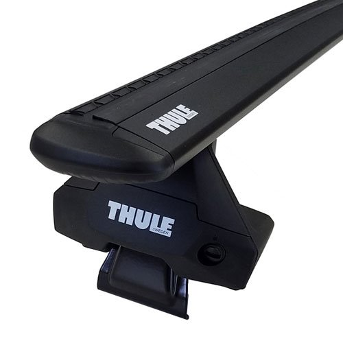Thule GMC Sierra 1500 Double Cab 2014 - 2018 Complete Evo Clamp Roof Rack with Black WingBars