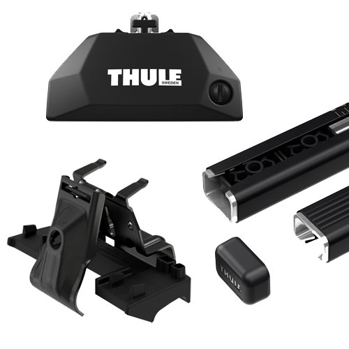 Thule BMW X4 5dr 2019 - 2020 Complete Evo FlushRail Square Bar Roof Rack