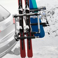 Thule 9033 Tram Ski Rack Snowboard Carrier for Trailer Hitch Bike Rack