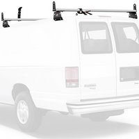 Vantech 2 Bar Aero Utility Ladder Van Rack Aluminum, Side Stops