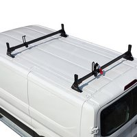 Vantech H1722 Ford Transit Cargo Van 2015+ Steel 2 Bar Ladder Rack