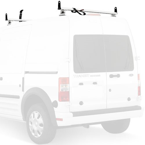 Vantech Ford Transit Connect 2008-13 Aluminum 2 Bar 55 Utility Ladder Racks with Tracks J2075