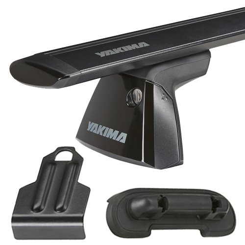 Yakima Nissan Sentra 4dr 2007-2012 BaseLine Car Roof Rack with JetStream Aluminum Bars, BaseClips for Naked Rooflines