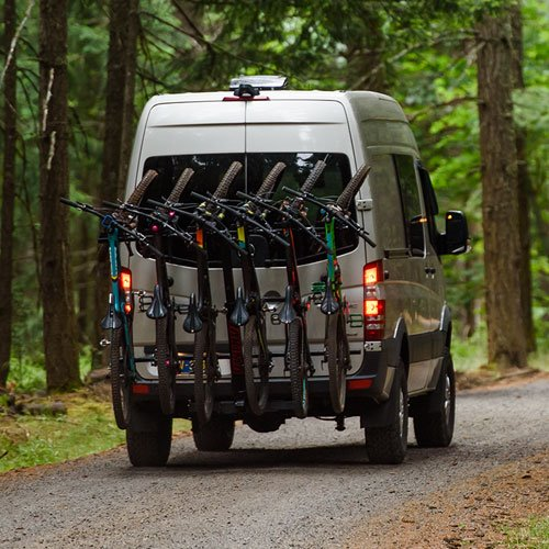 Yakima 8002485 HangOver 6 Bike Vertical Bicycle Carrier for 2 Hitch