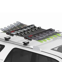 Yakima 8003096 FatCat 6 EVO Black 6 Pair Ski Rack 4 Snowboard Carrier