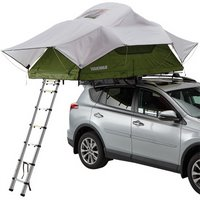 Yakima 8007434 SkyRise Medium Roof Rack Mounted Rooftop Tent, Green