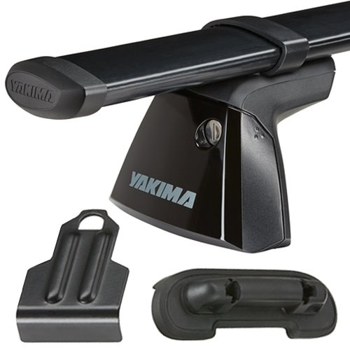Yakima Audi A4/S4 4dr 2017 BaseLine Car Roof Rack with Steel CoreBars, BaseClips for Naked Rooflines