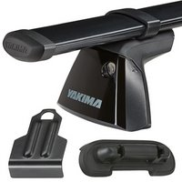 Yakima GMC Sierra HD/Denali Crew Cab 4dr 2015-2017 BaseLine Car Roof Rack with Steel CoreBars, BaseClips for Naked Rooflines