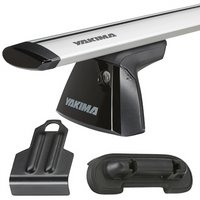 Yakima Nissan Rogue 5dr 2008-2010 BaseLine Car Roof Rack with JetStream Aluminum Bars, BaseClips for Naked Rooflines