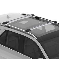 Yakima RailBar Raised Railing Car Roof Crossbar Rack, 1 Bar Silver